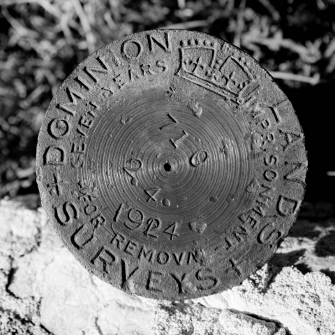 Geological Survey Marker