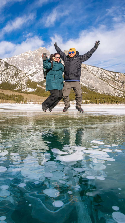 Abraham Lake Ice walks